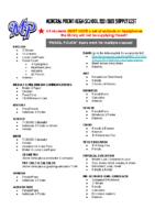 2021-2022 Supply List – HS