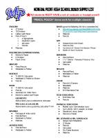 2020-21 HS Supply List