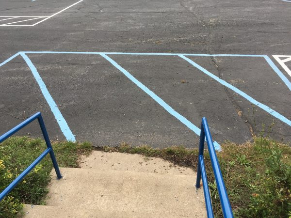 4. This blue rectangle will serve as the pick up area for the end of the day.