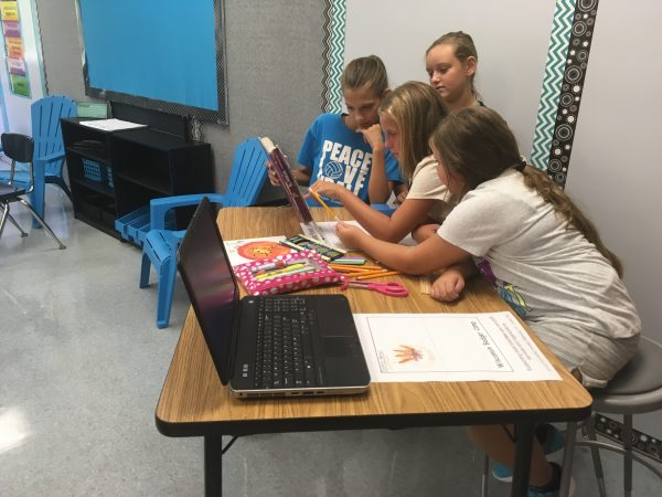 5th graders conduct research using multiple resources.