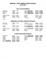 MSHS Bell Schedule