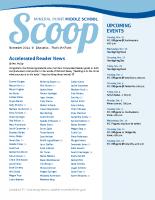 Middle School Scoop Nov 2014
