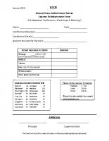 Reimbursement Expense Form (blue)