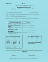 Reimbursement Expense Form (blue)