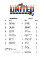 Dodge Point 2018 Boys Soccer Roster