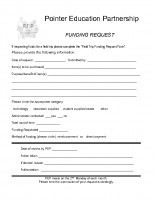 PEP Funding Request