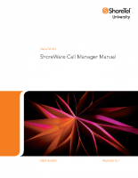 Shoretel Call Manager User Guide